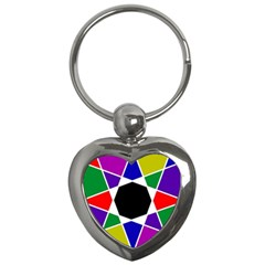 Compass Abstract Key Chains (heart)