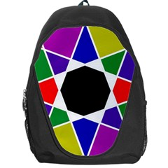 Compass Abstract Backpack Bag by vwdigitalpainting
