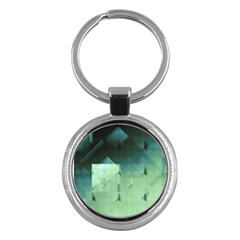 Mc Escher Inspired Fractal Pattern Key Chains (round)  by douxsurmoi