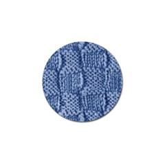 Knitted Wool Square Blue Golf Ball Marker by snowwhitegirl