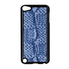 Knitted Wool Square Blue Apple Ipod Touch 5 Case (black) by snowwhitegirl