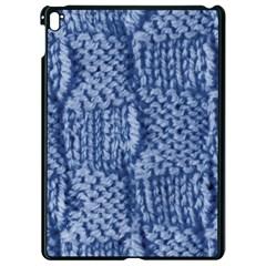 Knitted Wool Square Blue Apple Ipad Pro 9 7   Black Seamless Case by snowwhitegirl