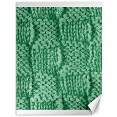 Knitted Wool Square Green Canvas 36  X 48   by snowwhitegirl