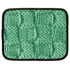 Knitted Wool Square Green Netbook Case (xl)  by snowwhitegirl