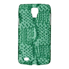 Knitted Wool Square Green Galaxy S4 Active by snowwhitegirl
