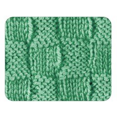 Knitted Wool Square Green Double Sided Flano Blanket (large)  by snowwhitegirl