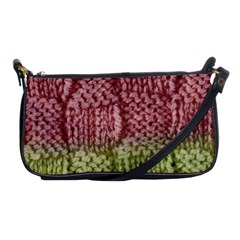 Knitted Wool Square Pink Green Shoulder Clutch Bags by snowwhitegirl