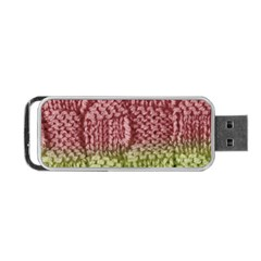Knitted Wool Square Pink Green Portable Usb Flash (two Sides) by snowwhitegirl