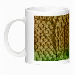 Knitted Wool Square Beige Green Night Luminous Mugs by snowwhitegirl