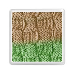 Knitted Wool Square Beige Green Memory Card Reader (square)  by snowwhitegirl