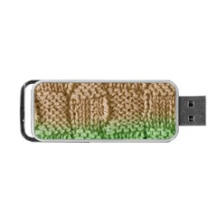 Knitted Wool Square Beige Green Portable Usb Flash (two Sides) by snowwhitegirl