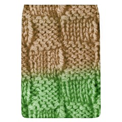 Knitted Wool Square Beige Green Flap Covers (l)  by snowwhitegirl