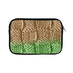 Knitted Wool Square Beige Green Apple Ipad Mini Zipper Cases by snowwhitegirl