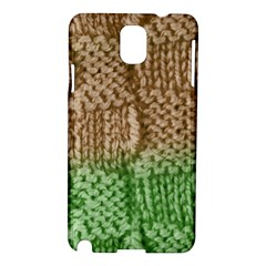 Knitted Wool Square Beige Green Samsung Galaxy Note 3 N9005 Hardshell Case by snowwhitegirl