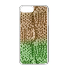 Knitted Wool Square Beige Green Apple Iphone 7 Plus Seamless Case (white) by snowwhitegirl
