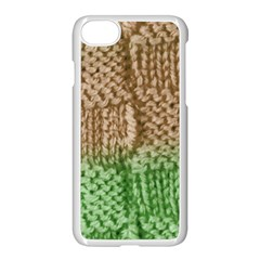 Knitted Wool Square Beige Green Apple Iphone 7 Seamless Case (white) by snowwhitegirl