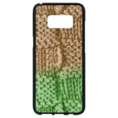 Knitted Wool Square Beige Green Samsung Galaxy S8 Black Seamless Case by snowwhitegirl