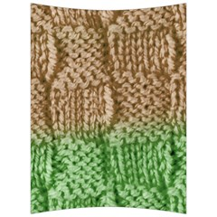 Knitted Wool Square Beige Green Back Support Cushion by snowwhitegirl