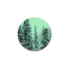 Winter Trees Golf Ball Marker by vintage2030