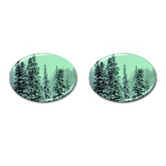Winter Trees Cufflinks (oval) by vintage2030