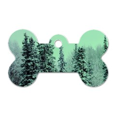 Winter Trees Dog Tag Bone (two Sides) by vintage2030