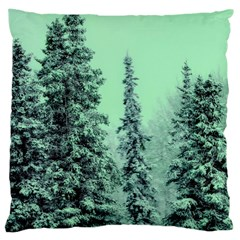 Winter Trees Large Cushion Case (one Side) by vintage2030