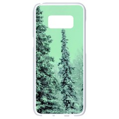 Winter Trees Samsung Galaxy S8 White Seamless Case by vintage2030
