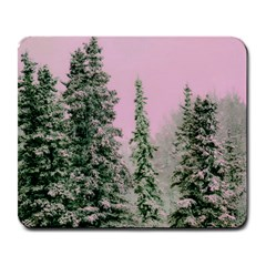 Winter Trees Pink Large Mousepads by vintage2030