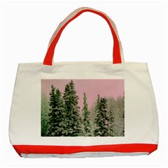Winter Trees Pink Classic Tote Bag (red) by vintage2030