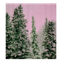 Winter Trees Pink Shower Curtain 66  X 72  (large)  by vintage2030