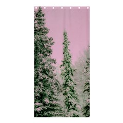 Winter Trees Pink Shower Curtain 36  X 72  (stall)  by vintage2030