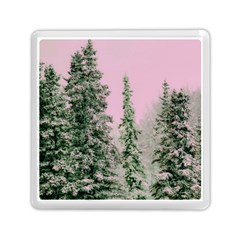 Winter Trees Pink Memory Card Reader (square)  by vintage2030