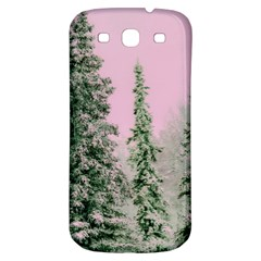 Winter Trees Pink Samsung Galaxy S3 S Iii Classic Hardshell Back Case by vintage2030
