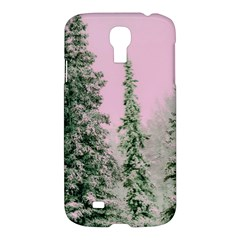 Winter Trees Pink Samsung Galaxy S4 I9500/i9505 Hardshell Case by vintage2030