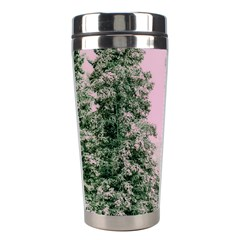 Winter Trees Pink Stainless Steel Travel Tumblers by vintage2030