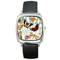 Butterfly 1064147 1920 Square Metal Watch by vintage2030