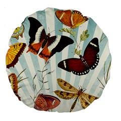 Butterfly 1064147 1920 Large 18  Premium Round Cushions by vintage2030