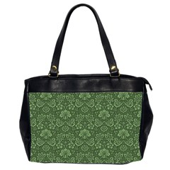 Damask Green Office Handbags (2 Sides)  by vintage2030