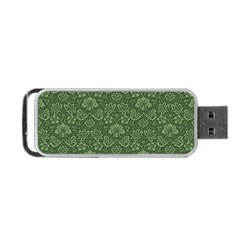 Damask Green Portable Usb Flash (two Sides) by vintage2030