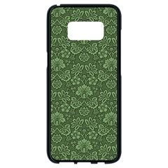 Damask Green Samsung Galaxy S8 Black Seamless Case by vintage2030