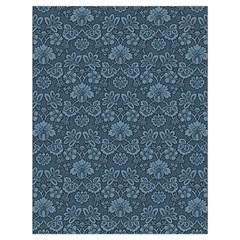 Damask Blue Drawstring Bag (large) by vintage2030