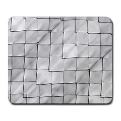 Silver Grid Pattern Large Mousepads by dflcprints