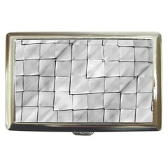 Silver Grid Pattern Cigarette Money Cases by dflcprints