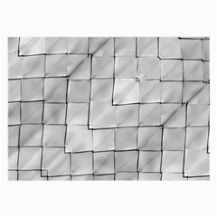 Silver Grid Pattern Large Glasses Cloth (2 Side) by dflcprints