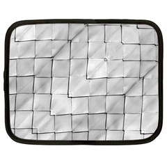 Silver Grid Pattern Netbook Case (large) by dflcprints