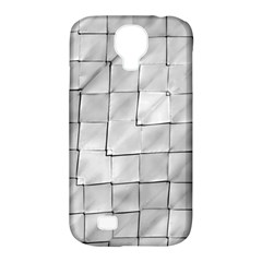 Silver Grid Pattern Samsung Galaxy S4 Classic Hardshell Case (pc+silicone) by dflcprints