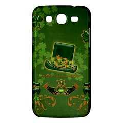 Happy St  Patrick s Day With Clover Samsung Galaxy Mega 5 8 I9152 Hardshell Case  by FantasyWorld7