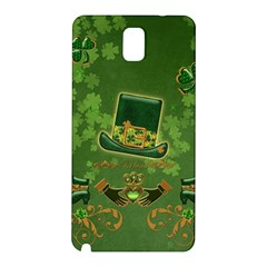 Happy St  Patrick s Day With Clover Samsung Galaxy Note 3 N9005 Hardshell Back Case by FantasyWorld7