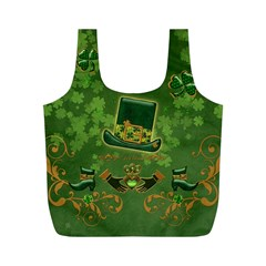 Happy St  Patrick s Day With Clover Full Print Recycle Bags (m)  by FantasyWorld7