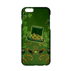 Happy St  Patrick s Day With Clover Apple Iphone 6/6s Hardshell Case by FantasyWorld7